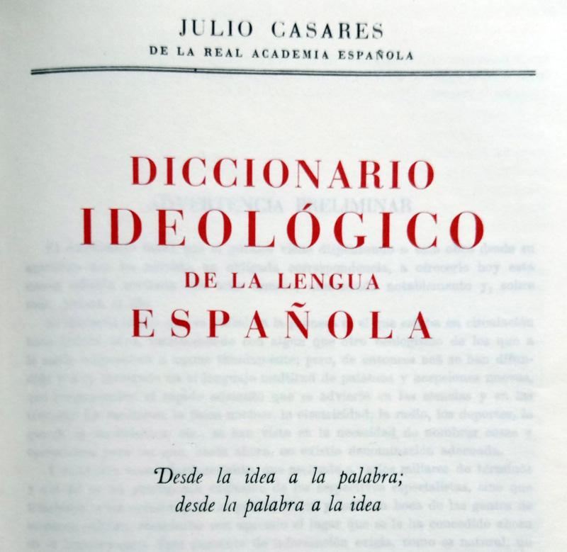 Diccionario Ideológico Casares